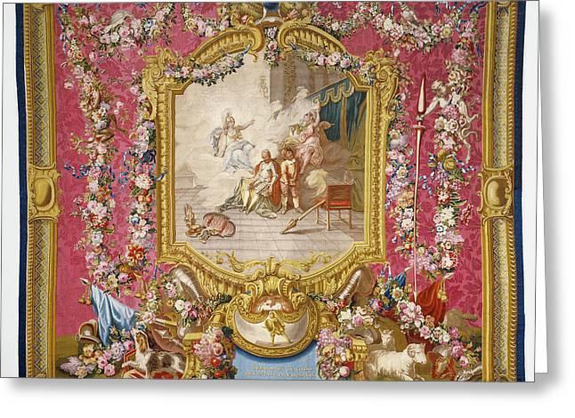 Tapestry Don Quichotte Guéri De Sa Folie Par La Sagesse Greeting Card