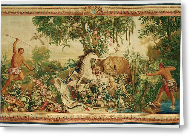 Tapestry Le Cheval Rayé From Les Anciennes Indes Series Greeting Card