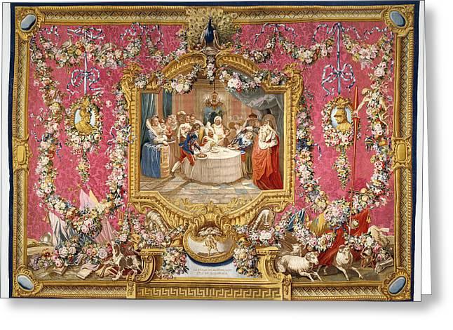 Tapestry Le Repas De Sancho Dans Lile De Barataria Greeting Card