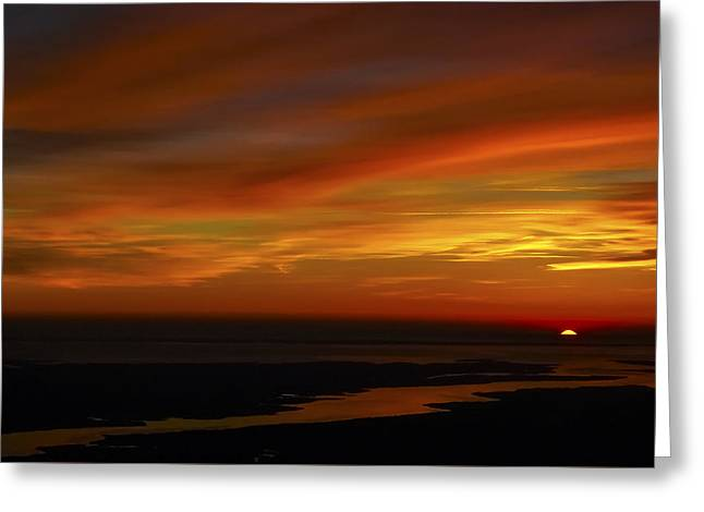 Rappahannock Sunrise II Greeting Card by Greg Reed