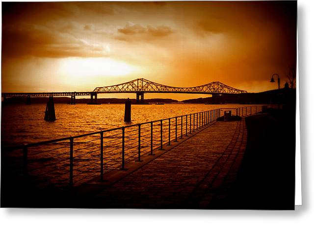 Greeting Card featuring the photograph Tappan Zee Bridge by Aurelio Zucco