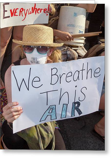 Tar Sands Protest Greeting Card by Jim West