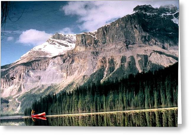 Greeting Card featuring the photograph Tranquility...emerald Lake Canada by Peggy Stokes
