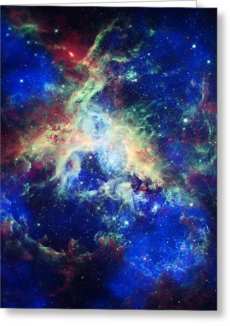Tarantula Nebula 4 Greeting Card by Jennifer Rondinelli Reilly - Fine Art Photography