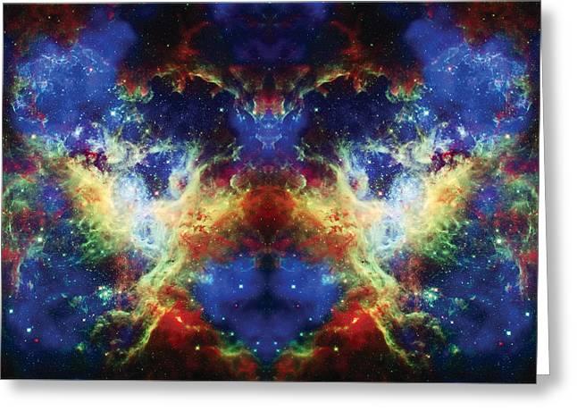 Tarantula Reflection 2 Greeting Card by Jennifer Rondinelli Reilly - Fine Art Photography