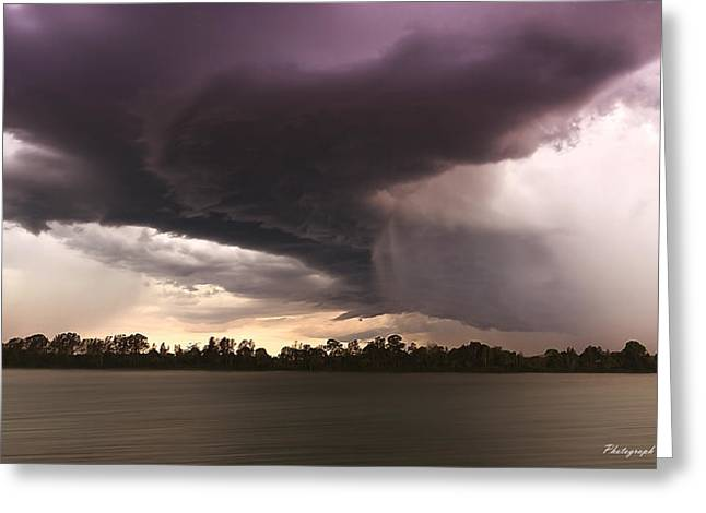 Taree Storm 0001 Greeting Card by Kevin Chippindall