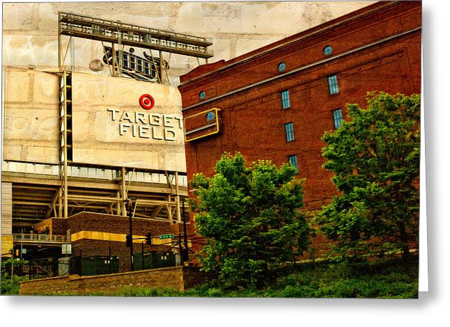 Target Field Home Of The Minnesota Twins Greeting Card by Susan Stone