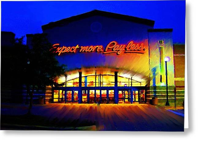 Target Super Store C Greeting Card by P Dwain Morris