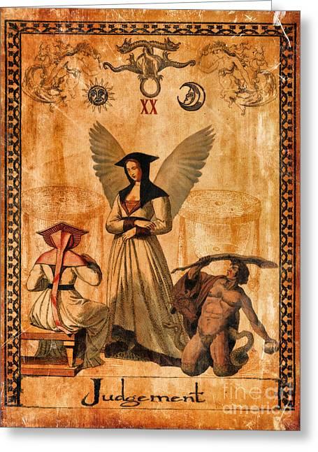Tarot Card Judgement Greeting Card by Cinema Photography