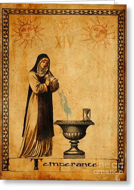 Tarot Card Temperance  Greeting Card
