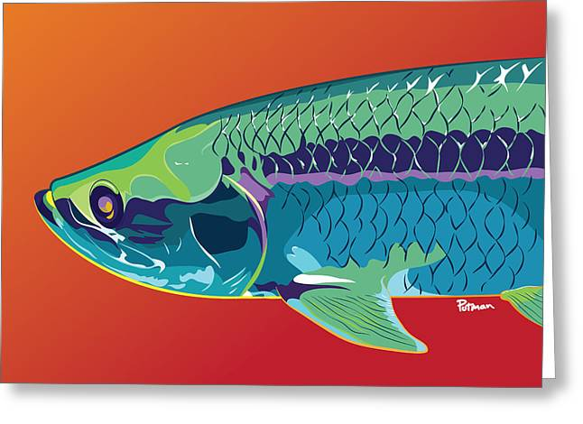 Tarpon Colors Greeting Card by Kevin Putman