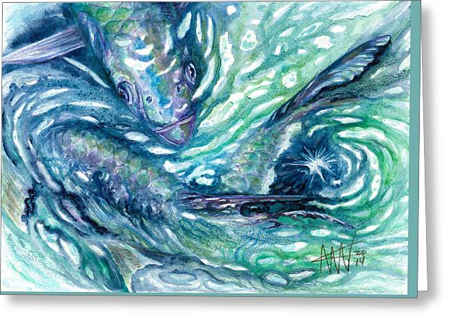 Tarpon Frenzy Greeting Card