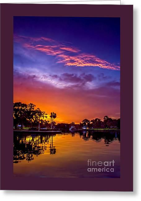 Tarpon Springs Glow Greeting Card by Marvin Spates
