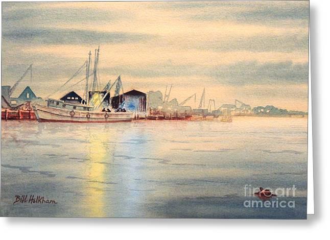 Tarpon Springs Sponge Docks Greeting Card by Bill Holkham