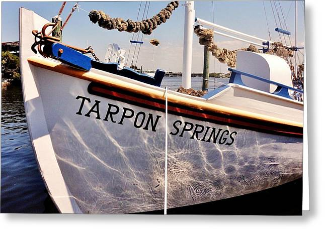 Tarpon Springs Spongeboat Greeting Card by Benjamin Yeager