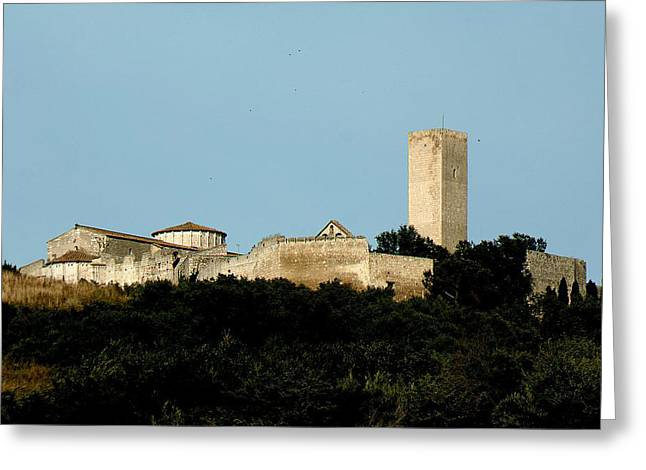 Tarquinia Landscape With Tower Greeting Card