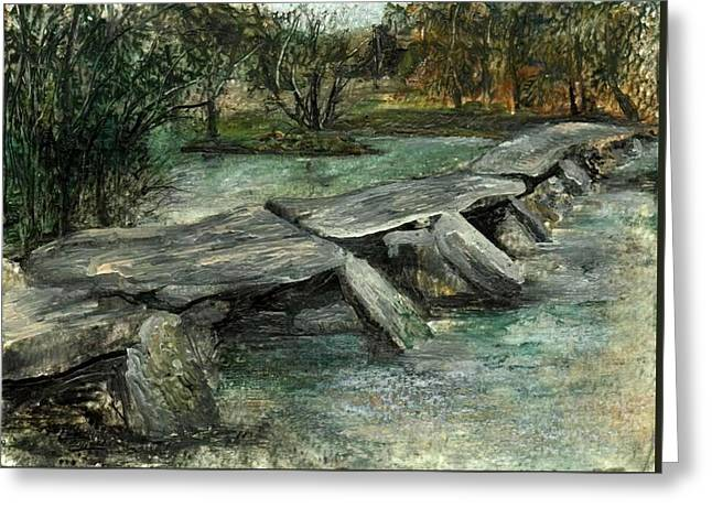 Tarr Steps Greeting Card by Carol Rowland