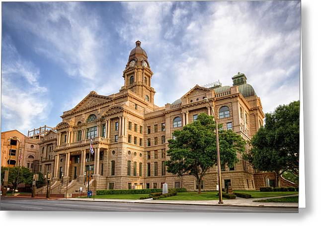 Tarrant County Courthouse II Greeting Card by Joan Carroll