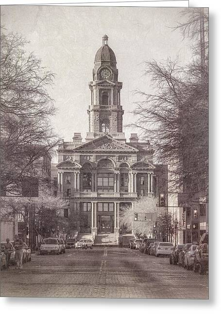 Tarrant County Courthouse Greeting Card by Joan Carroll