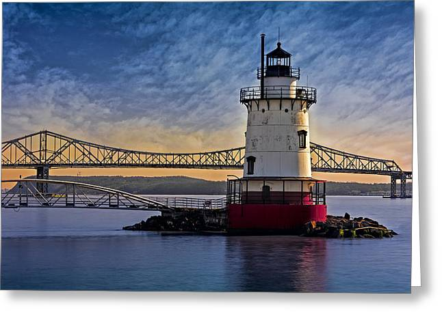 Tarrytown Light Greeting Card by Susan Candelario