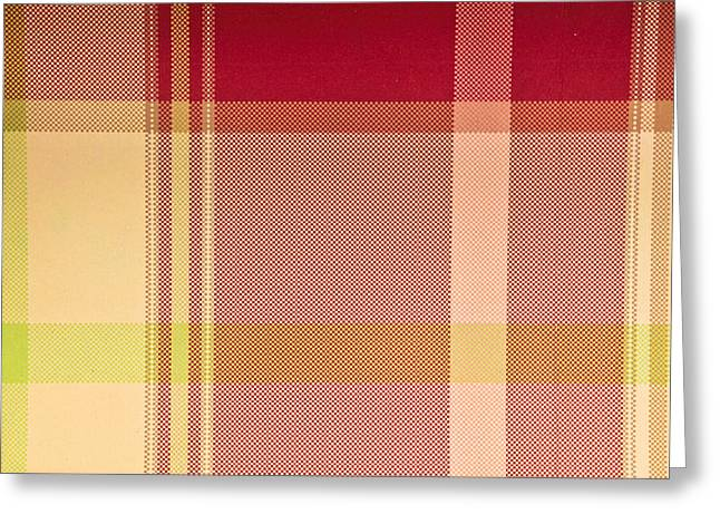 Tartan Cloth Greeting Card by Tom Gowanlock