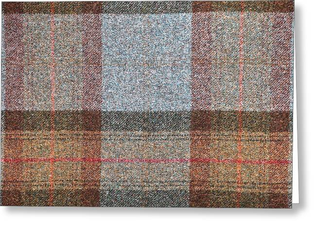 Tartan Wool Greeting Card by Tom Gowanlock