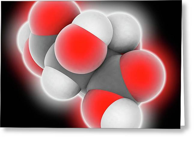 Tartaric Acid Molecule Greeting Card by Laguna Design