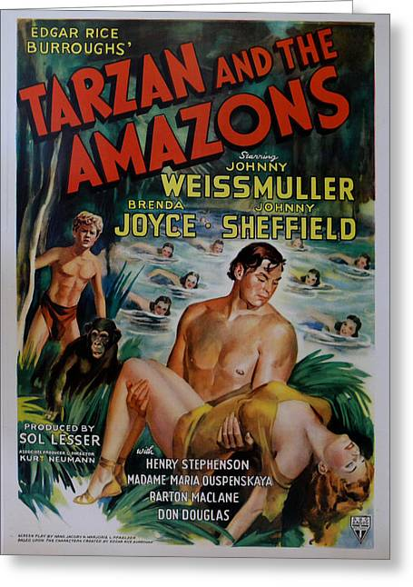 Tarzan And The Amazons Greeting Card