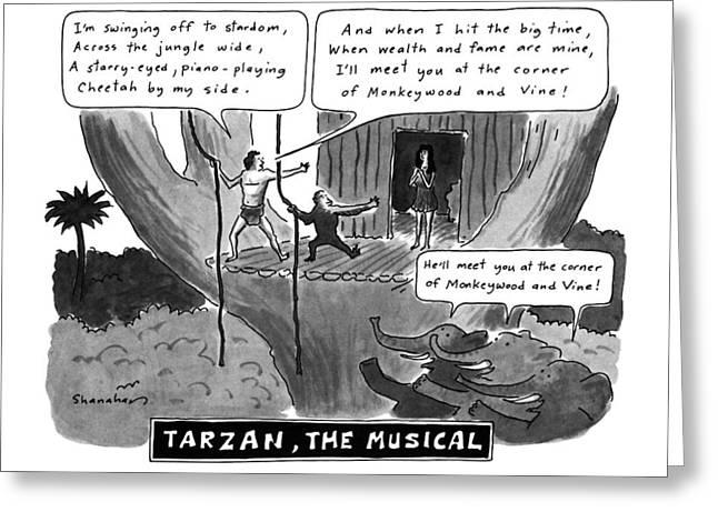 Tarzan The Musical Greeting Card by Danny Shanahan