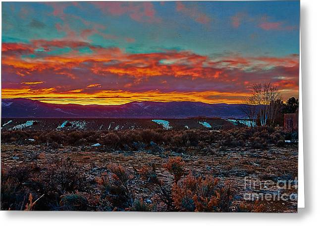 Taos Sunrise Greeting Card