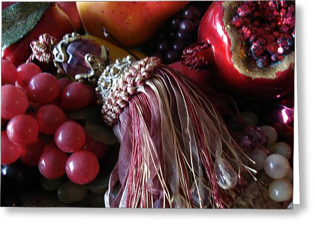 Tassel With Fruit Greeting Card