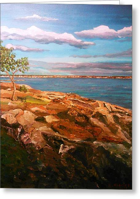 Greeting Card featuring the painting Taste Of Southcoast by Ray Khalife