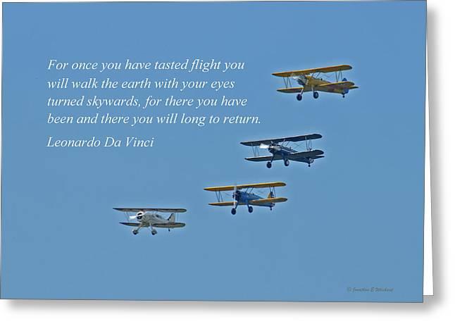Tasting Flight Greeting Card by Jonathan E Whichard