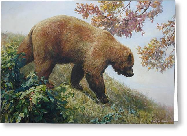 Tasty Raspberries For Our Bear Greeting Card by Svitozar Nenyuk