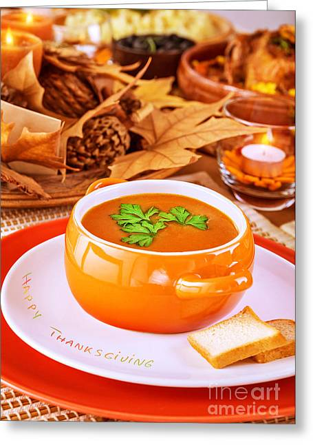 Tasty Soup Greeting Card by Anna Om