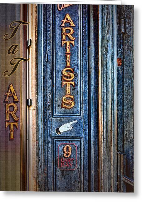 Tat Art Greeting Card by Larry Bishop