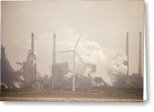 Tata Steel Works Greeting Card by Ashley Cooper