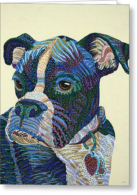 Tater - Portrait Of A Boxer Greeting Card