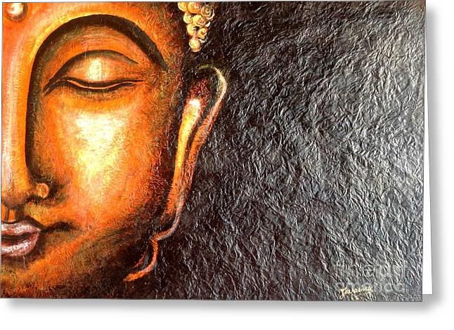 Tathagatha - Serene Buddha  Greeting Card by Kami