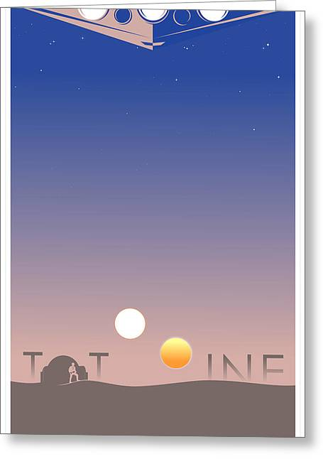 Tatooine Greeting Card by Vincent Carrozza