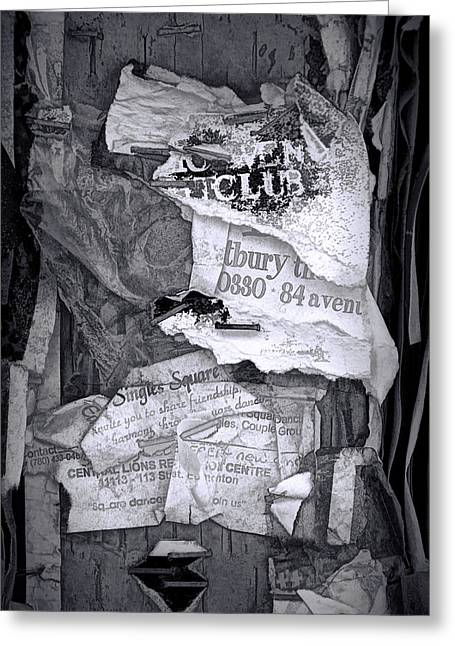Tattered And Torn Greeting Card by Randall Nyhof