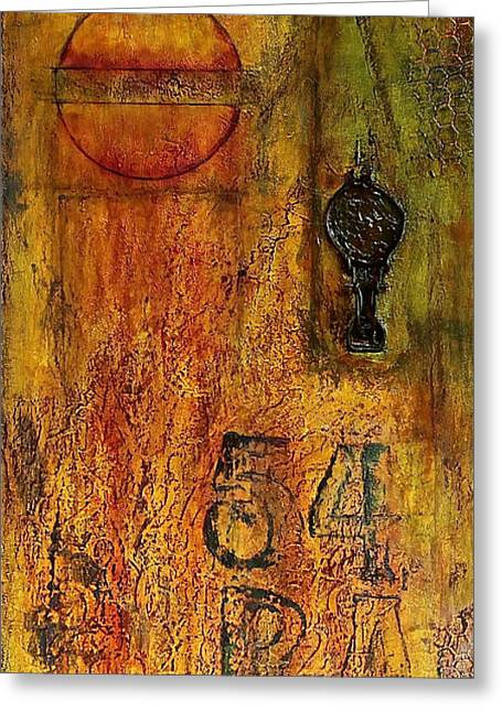 Tattered Wall  Greeting Card