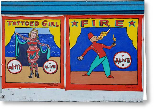 Tattoos And Fire Greeting Card by Rob Hans