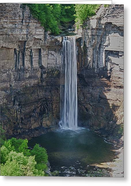 Guy Whiteley Greeting Cards - Taughannock Falls  0453 Greeting Card by Guy Whiteley