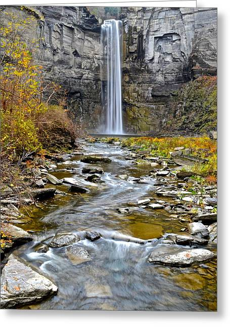Taughannock Falls Greeting Card by Frozen in Time Fine Art Photography