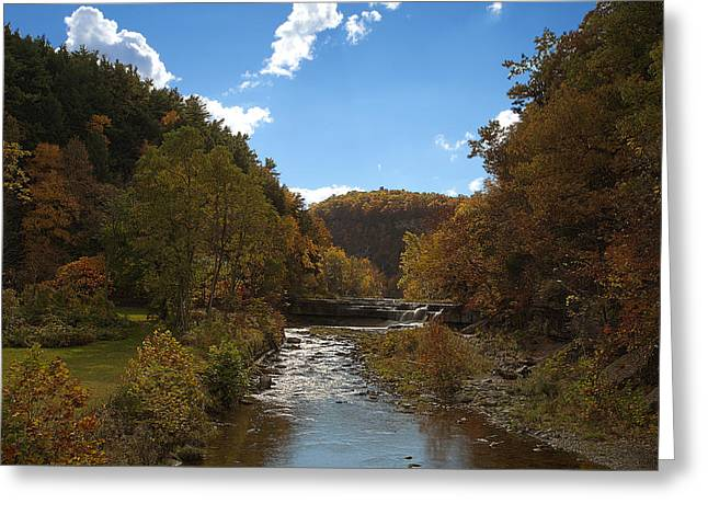 Taughannock Lower Falls Ithaca New York Greeting Card by Paul Ge