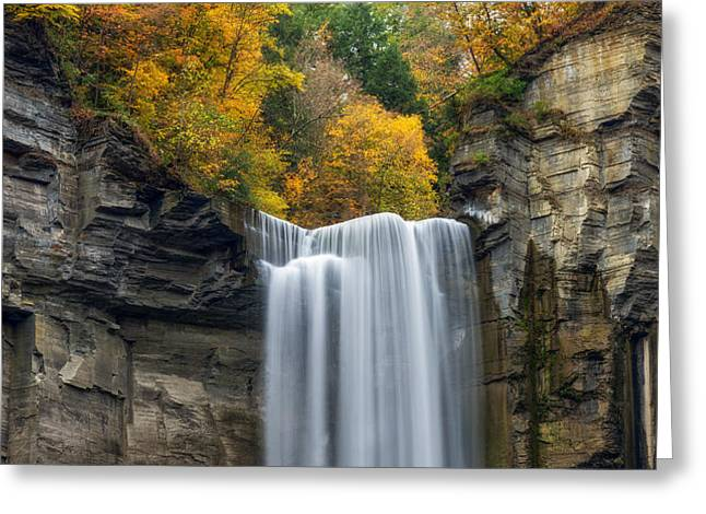 Taughannock Top Greeting Card by Mark Papke