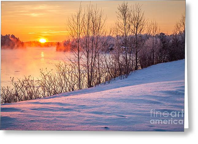 Taunton River Sunrise Greeting Card