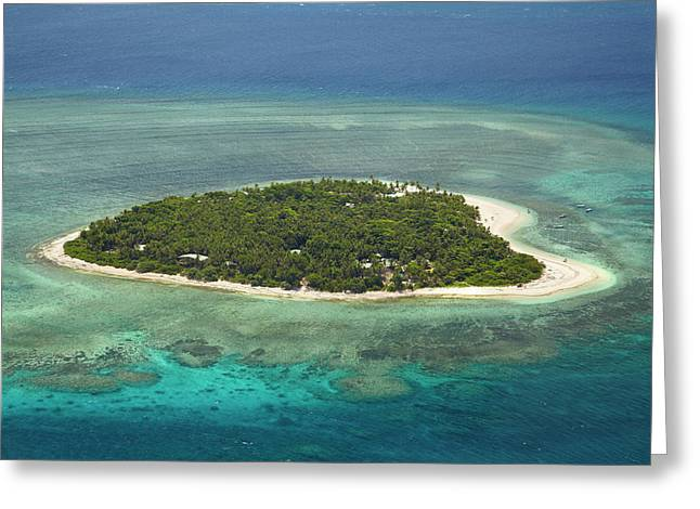 Tavarua Island And Coral Reef, Mamanuca Greeting Card