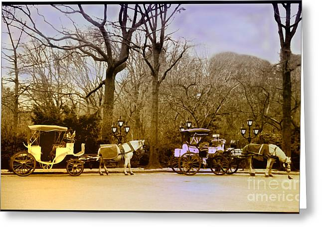 Tavern On The Green Greeting Card by Madeline Ellis